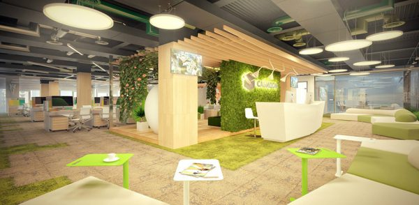 Green is the most natural colour in office design.
