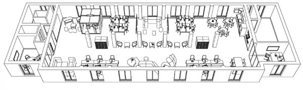 Our basic outline of a 3D Office Design Style