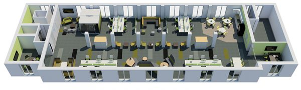Our fully realised 3d Office Design Style