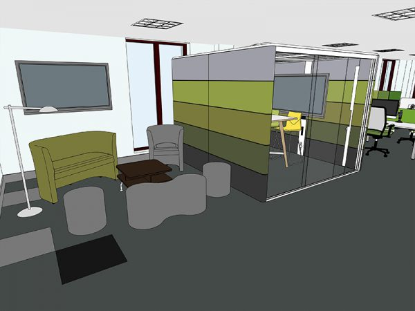 A more textured 3D Office Design Style